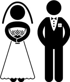 bride groom vector image